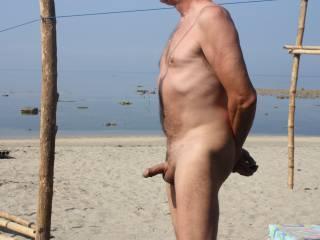 Enjoying the beach...