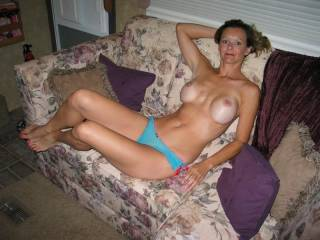 Wife is so gorgeous and very very hotttt and sexy pose on the couch!!  She is such a huge turn on!!  I'm cumming to seduce her for a wild erotic adventure filled with loads and loads of hot creamy cum for her to enjoy!!