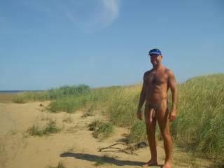 a sunny warm day at my nudist beach