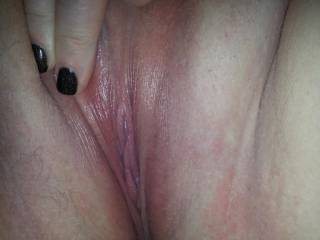 Your shaved wet pussy surely deserves a good sucking, a hard fuck and a warm creampie...