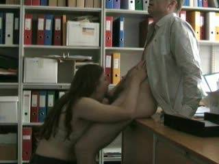 The dirty-minded secretary\'s perfect lunch break. ;) Blowjob, masturbating, fucking, pussy-eating... Want to join us?