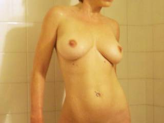 Amazing body!! You are always sexy hon ;-) And those gorgeous natural tits are a perfect 10