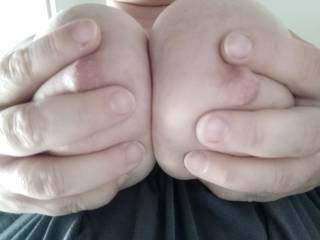 Feels so good to play with my hard nipples
