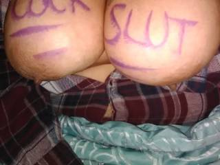 She wanted everyone to know what kind of slut she was that night.v