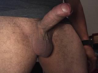 My hard uncut cock again