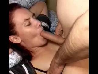 Not knowing what to expect she takes her first hot load to the face and mouth and a cum swallow finish. This babes a keeper...