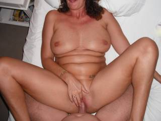 Fucking her nice smooth shaven pussy