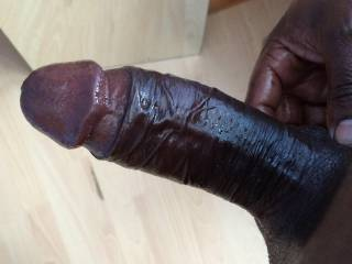 That is one beautiful black cock!  Would you like to slip it into my tight white pussy?  Michelle