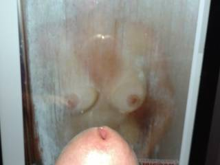 Wouldn't I be lucky to catch ggpror in the shower? I just love hot, wet, soapy boobs