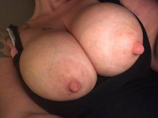 Wouldn't you love to have my huge fucking gorgeous titties bouncing in your face! 😈