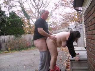 outdoor and indoor doggy style fucking with cumshot