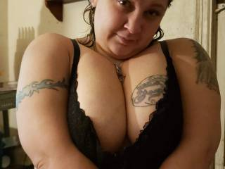 Will someone please cum on my tits