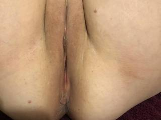 She wanted to show her smooth pussy and ass. Which would you eat first?