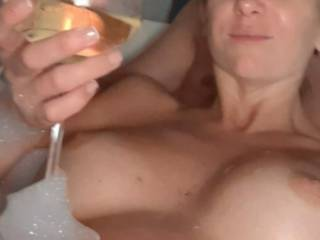 Wine in tits out