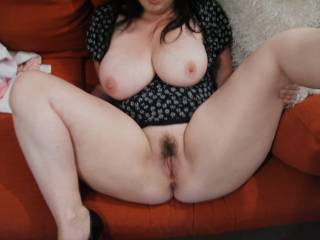 Well your pussy sure looks like it would be fun to pound with my fat cock, and your tits are awesome.  Thank you for being so damn hot