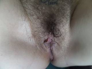 Beautiful hairy pussy. So sexy and delicious looking.