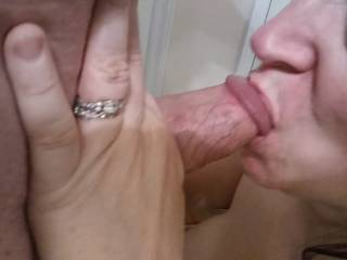 Mmm... Nothing like cock in your mouth. Every woman needs cock in her mouth. I love licking his shaft and balls while I deep throat. Needless to say,I drained Hubby.... And it was delicious! My video will prove that.