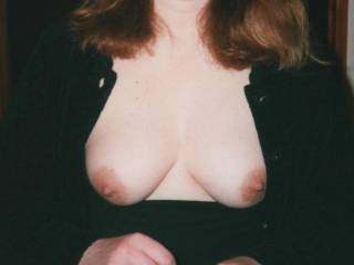 I'd love to help, let me know where you go out and i'll keep your boobs warm for you.