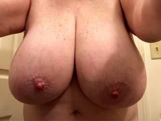 Becky big tit selfie.