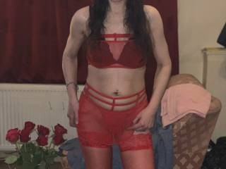 Dressed ready for sex action, I hope my husband likes it, I do!