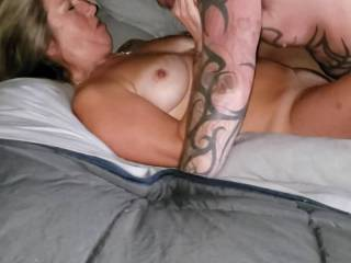 Being enjoyed by new fuck buddy.