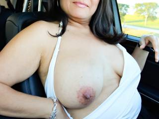 I like to drive with my tits popped out from time to time.  It's a fun sexual rush!