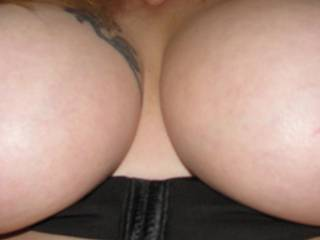 Wow those are more than tits, the great big beautiful tits  would love to be able to play with them.