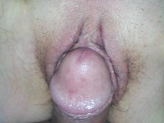 just before I slid my hot hard cock deep inside her pussy