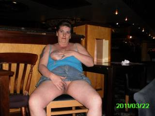 mmm I would bend you over that chair and give the sweet pussy a good seeing too