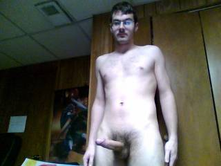 Just a nice nude photo of my upper body and my dick. I am very tall.