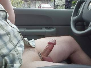 Man i would love to take care of that hot horny cock for you right there in the car!!!
