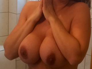 I would love to join you for some fun!  Would you enjoy having my big hard cock sliding between them?