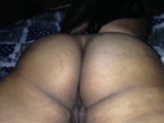 my latina\'s wife sexy ass  look at her pussy its tight like a clam smh