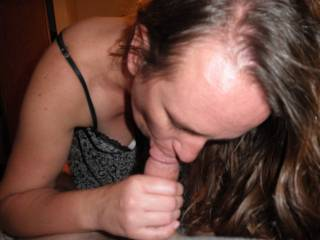 sucking his cock getting him nice and hard