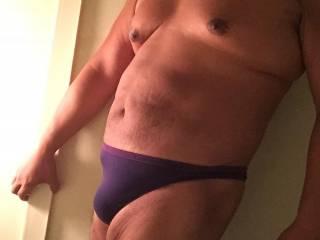 purple, thong, bath house, bikini