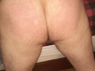 He needed a good spanking so I bent him over the bed and smacked that ass good!!!