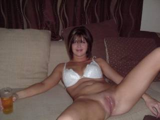 Offering your hot pussy in bed while having drinks is one of the best ways to have an awesome time, hunny. Your pussy sure looks moist and gorgeous. Perfect to eat and fuck. Mmmmhhhhh!..