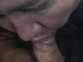 Here she is again eating my cock while her cuckold is at work, but she sent the video to him after I came I her face