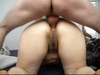 i like to anal fuck her chubby hairy ass all day long