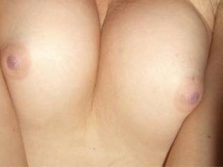 Magnificent ones... I could easily slap those boobs around with my hard cock for a while... And what about emptying my big balls on them?  I would get them thoroughly splattered, creamed and drenched... I wonder if you fancy the idea?