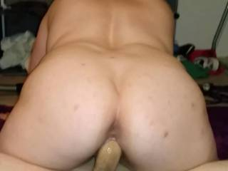 She rides the thick cock of her fuck buddy.