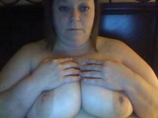 BBW saggy whore tits