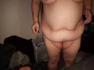 She doesn\'t mind sharing her fat body with you