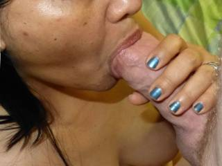 His thick cock in my mouth