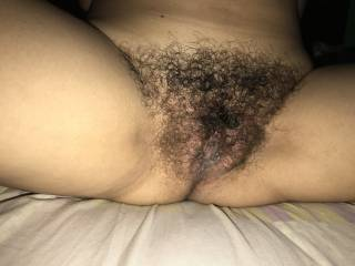 I love her hairy pussy