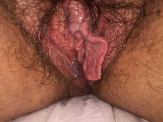 the mrs hairy pussy was looking very horny who wants a ride