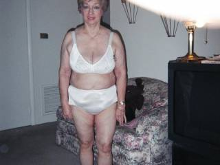 I Love your undies, as well There is something about a mature woman in white undes that gives me a hard on everytime