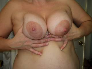 Mmmmm....love those beautiful breasts...so big and suckable.