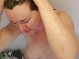 Srcub, scrub, scrub!  Shampoo for the hair!  Where would you scrub?