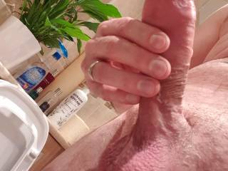 Run your tongue from my nuts to the tip of my cock